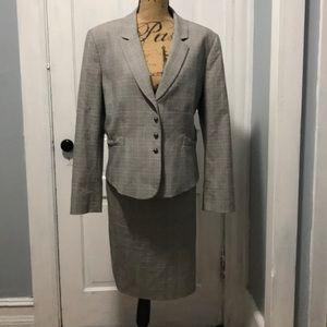 Beautiful grey skirt suit